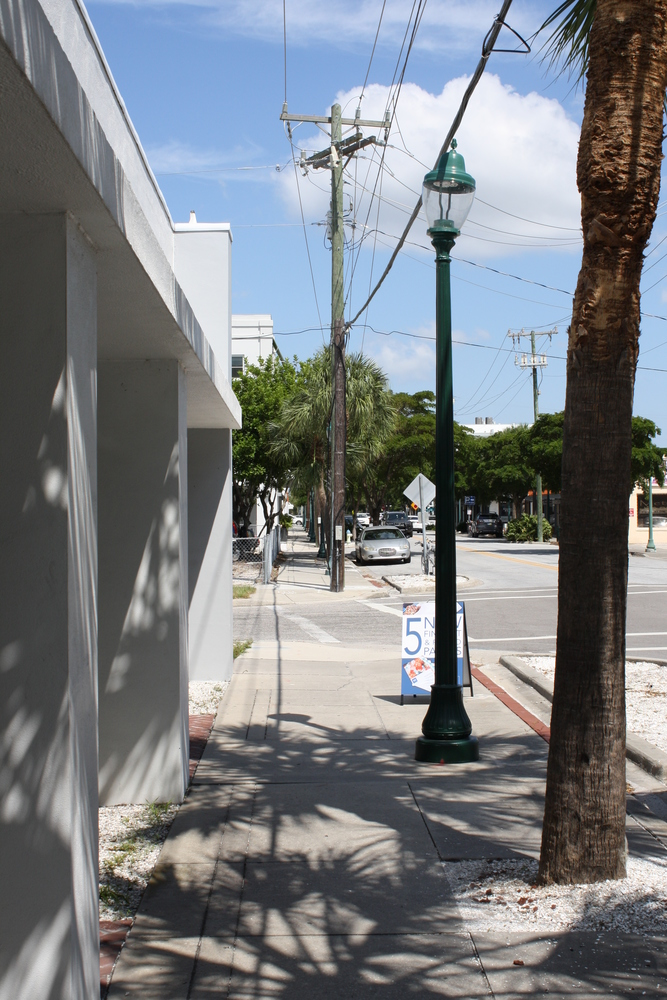 Sidewalk View Looking North