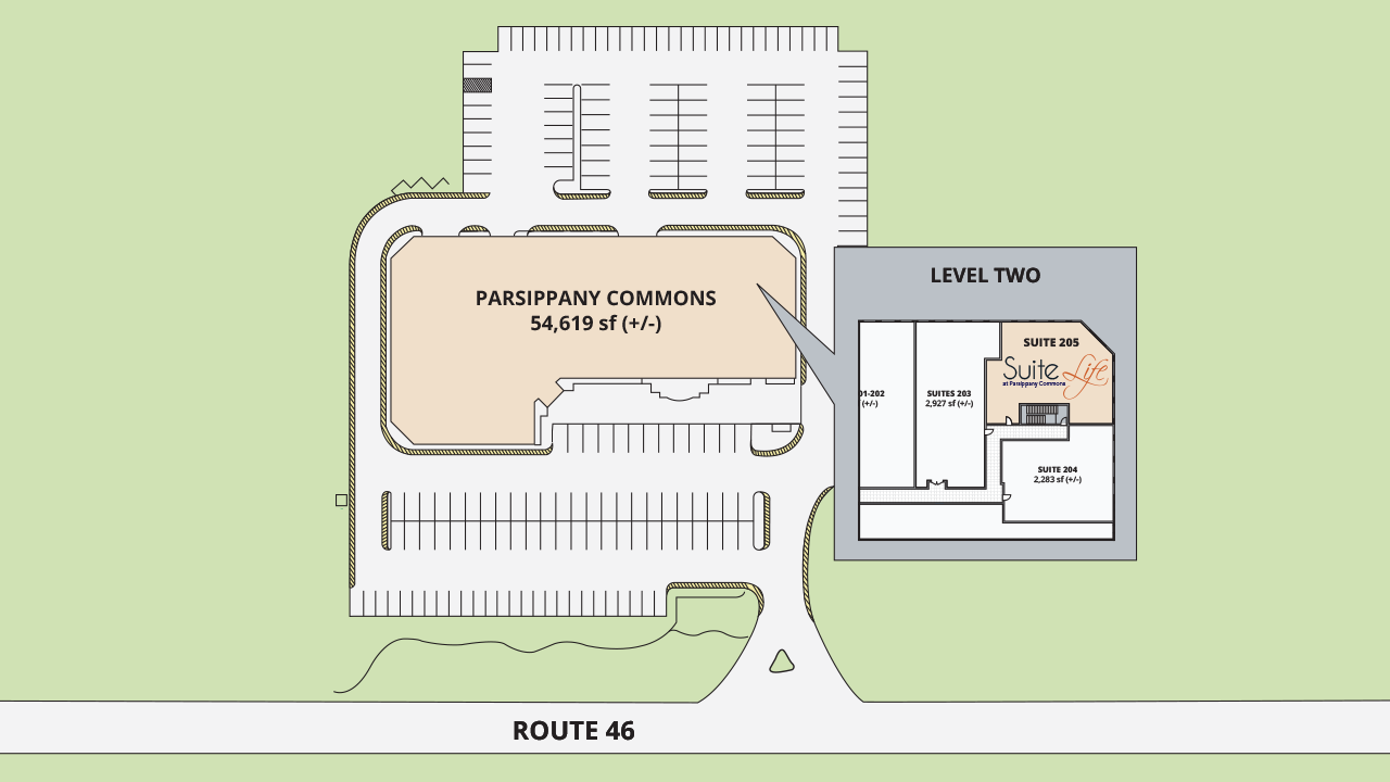 Site Plan Suite Life at Parsippany Commons