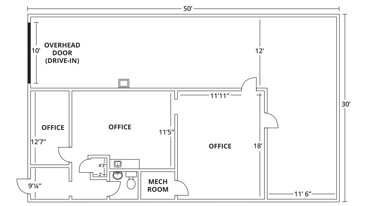 Suite 3 Industrial/Flex, Warehouse, Instructional