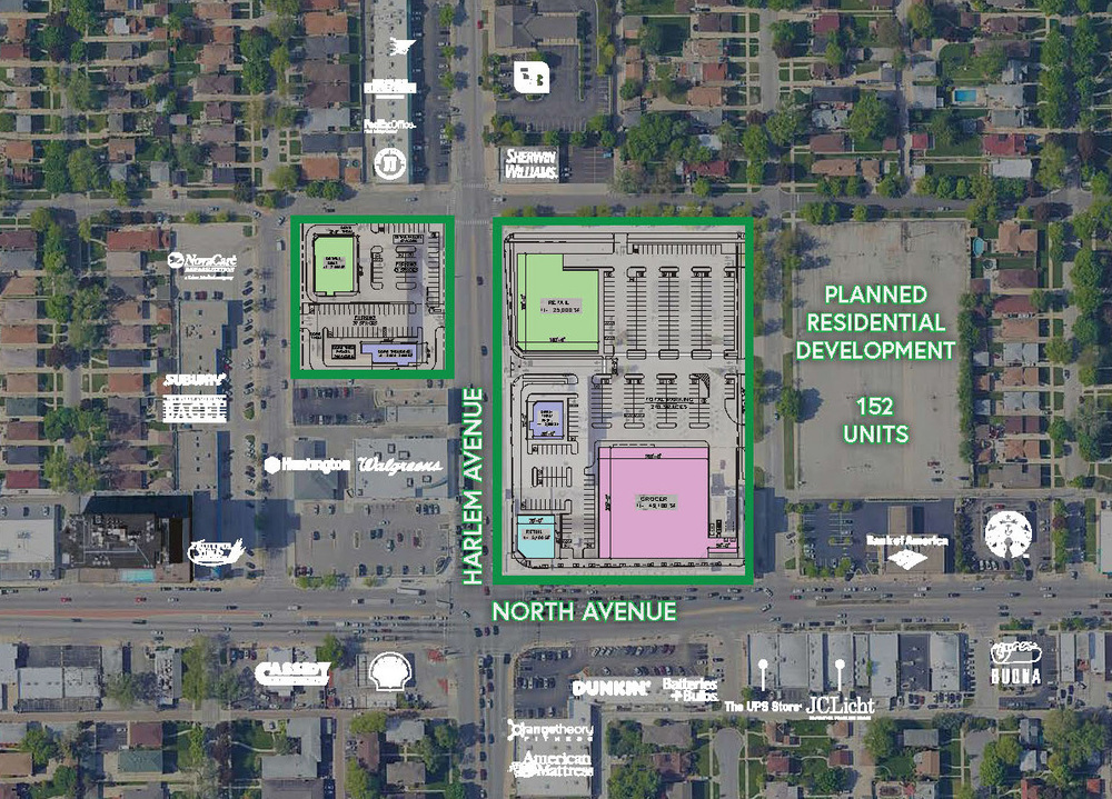 1601 N Harlem Avenue (Chicago) & SWC Harlem Avenue & Wabansia Avenue (Elmwood Park)