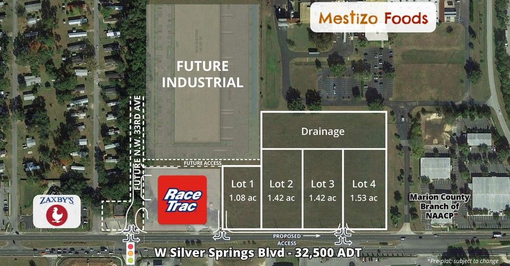 <div>West Silver Springs Blvd</div><div>Ocala, FL 34475</div>