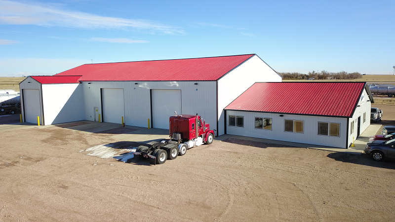 Industrial Building with full truck bay