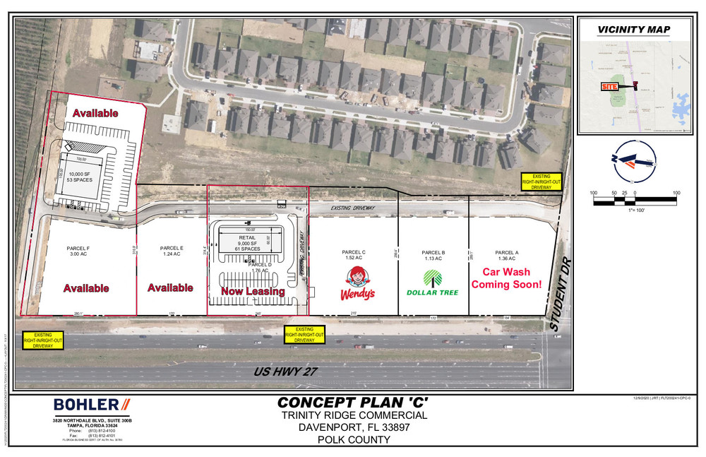 Trinity Plaza, Davenport, Fl  3 Out Parcels Available!