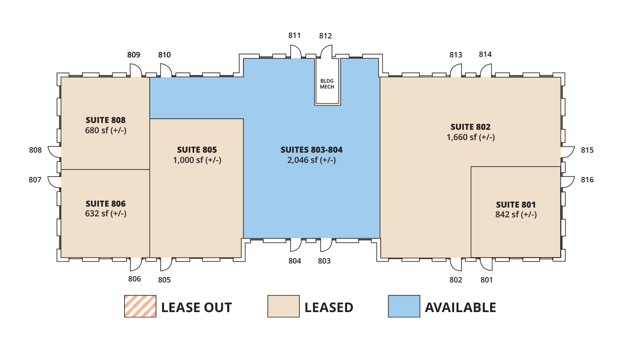 Floor Plan Building 8