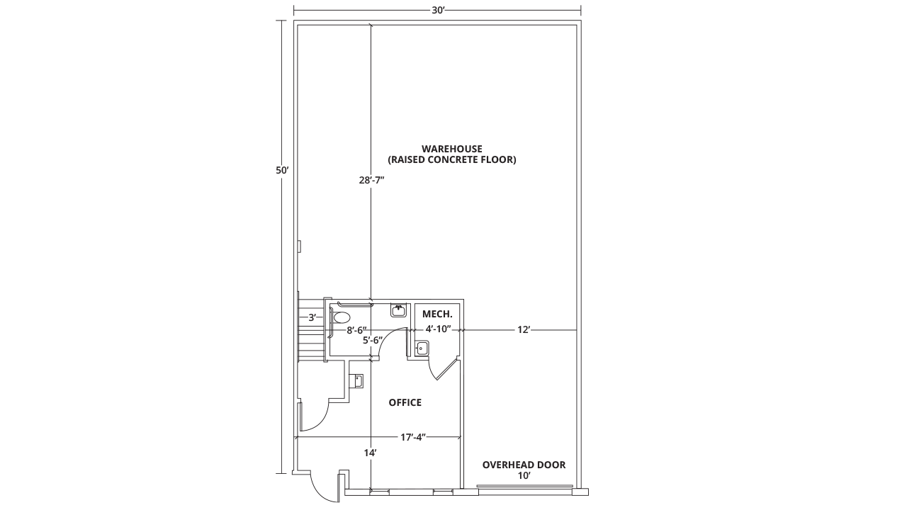 Suite 16 Industrial/Flex, Warehouse, Instructional