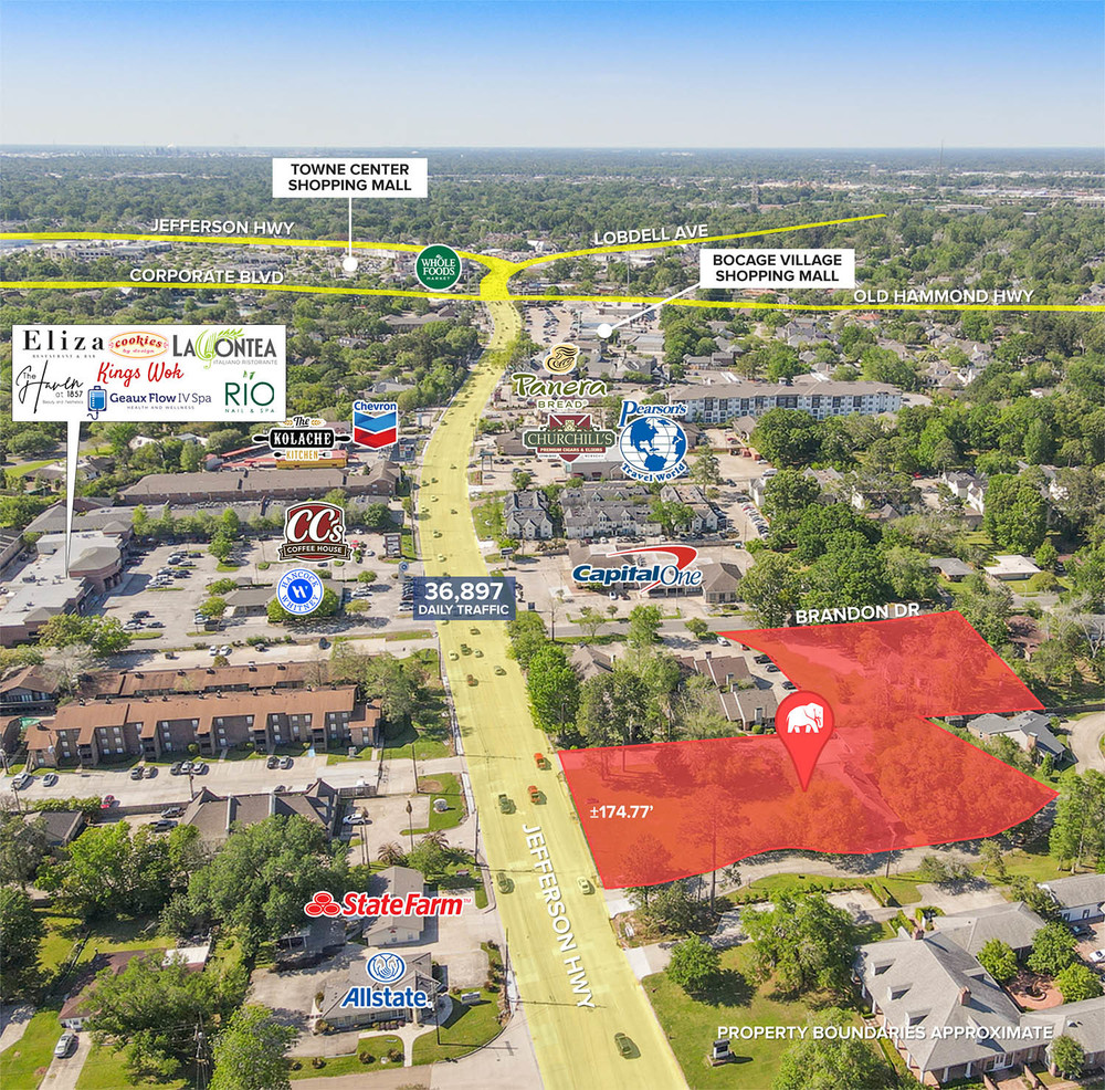 Build-to-Suit Opportunity on Jefferson Hwy near BR Country Club