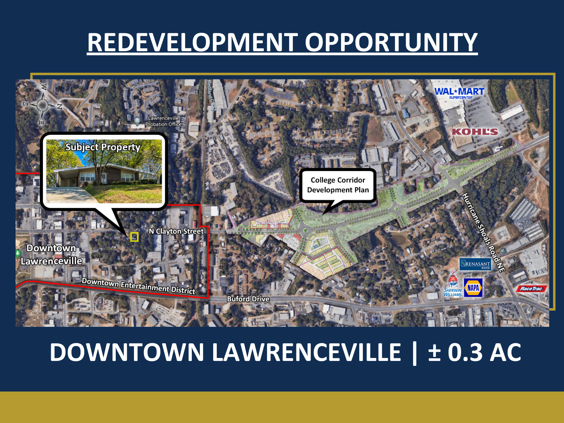 Redevelopment Opportunity in Downtown Lawrenceville | ± 0.3 Acres