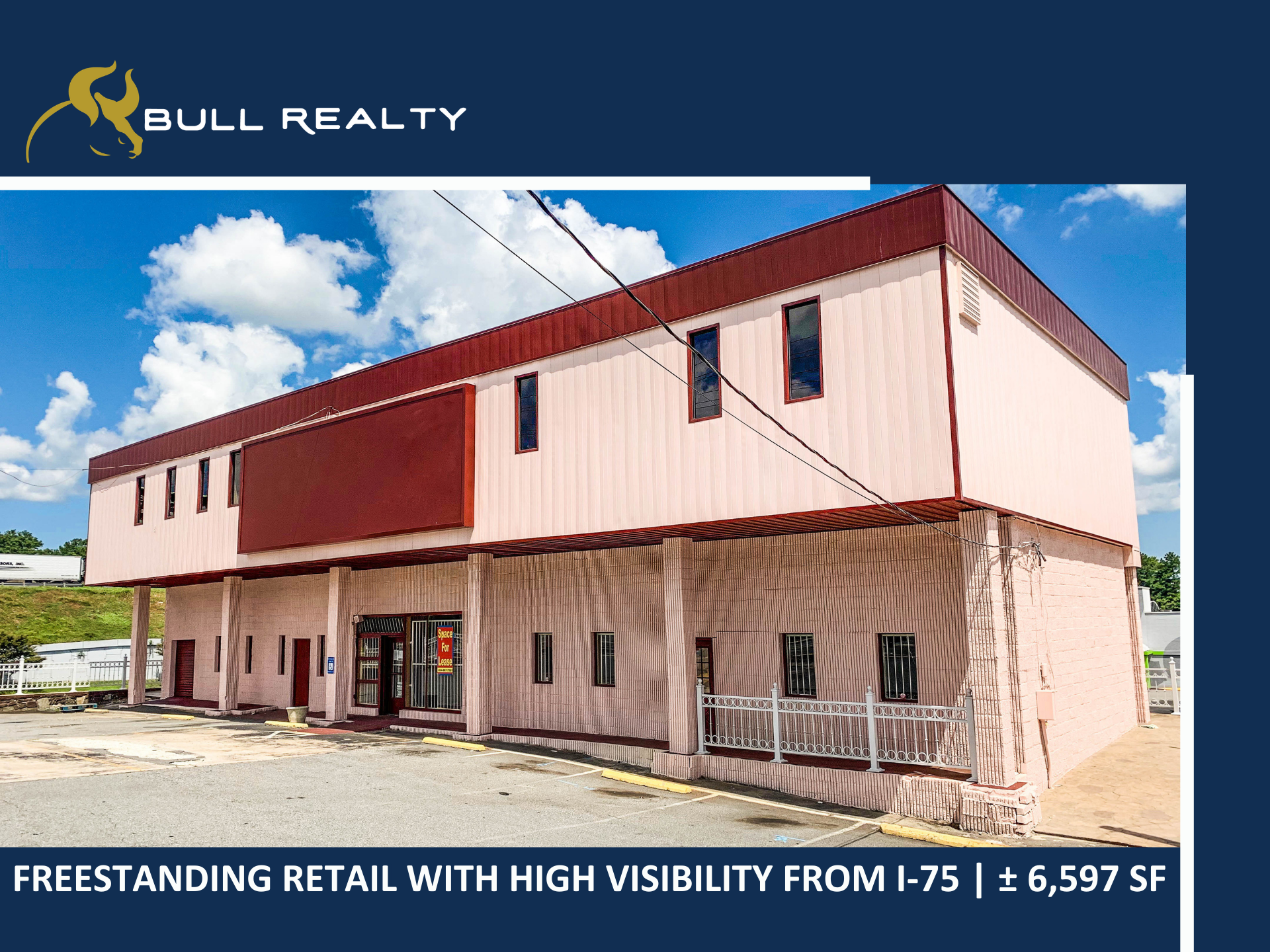 Freestanding Retail with Visibility from I-75    ± 6,597 SF