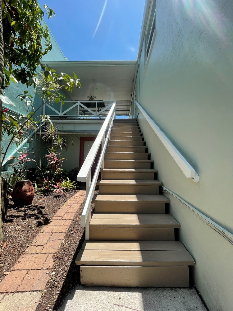 Stair View To Apartments