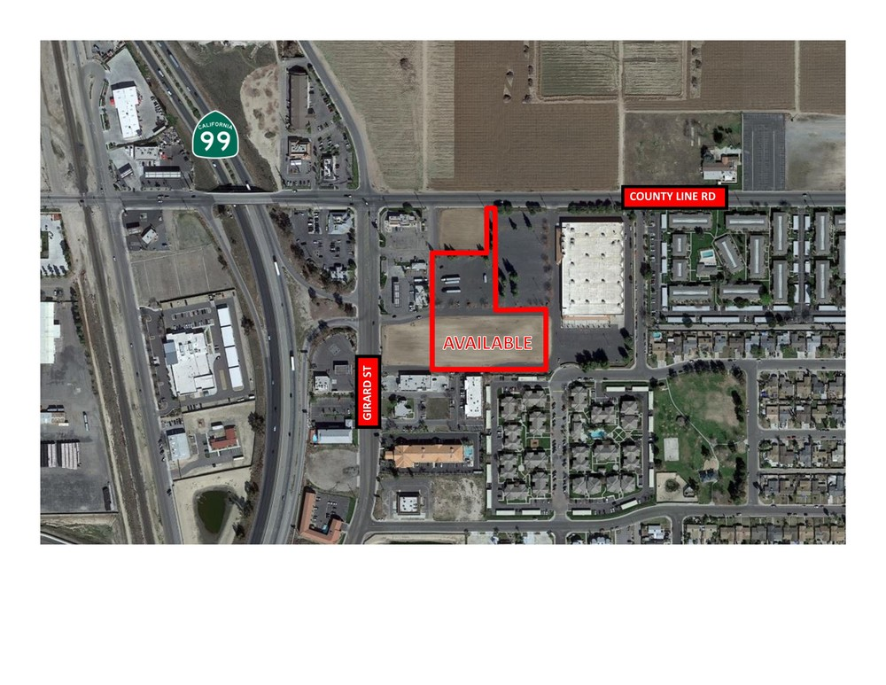 ±4.11 Acres of Vacant Commercial Land in Delano, CA
