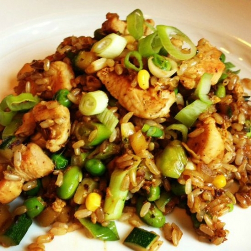 Bodybuilding healthy brown rice with chicken and vegetables recipe home meal search healthy brown rice with chicken and vegetables forumfinder Image collections