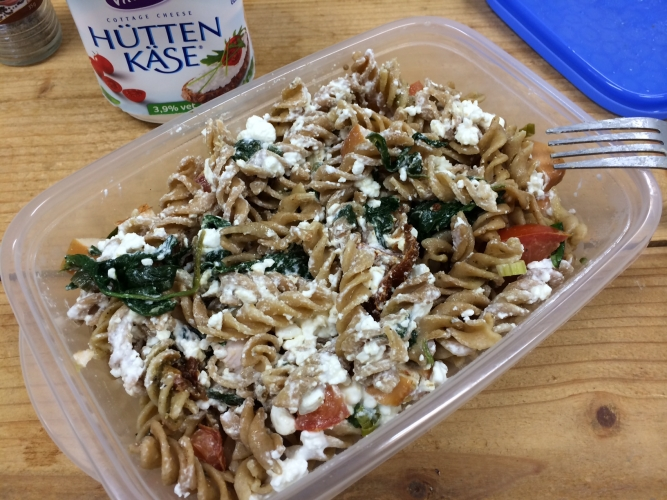 Home » Meal Search » Smoked Chicken Cottage Cheese Pasta Salad
