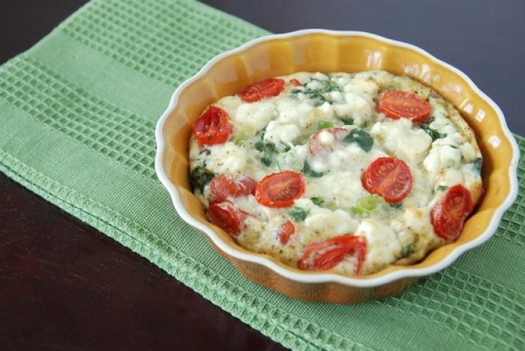 Bodybuilding Egg White Frittata With Spinach Tomato And Feta Cheese Recipe