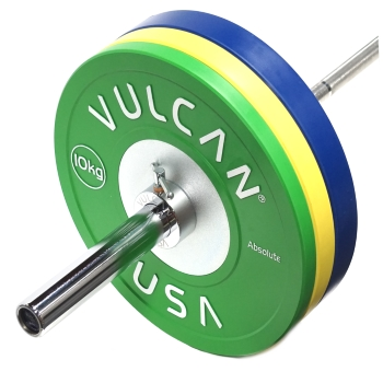 110 kg Competition Bumper Plates & Barbell Set