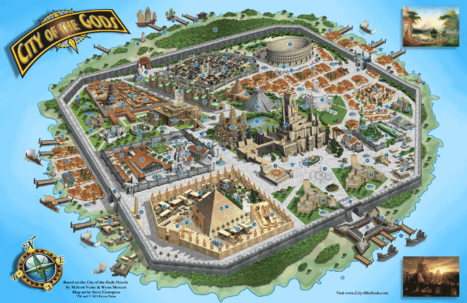 City of the Gods large map