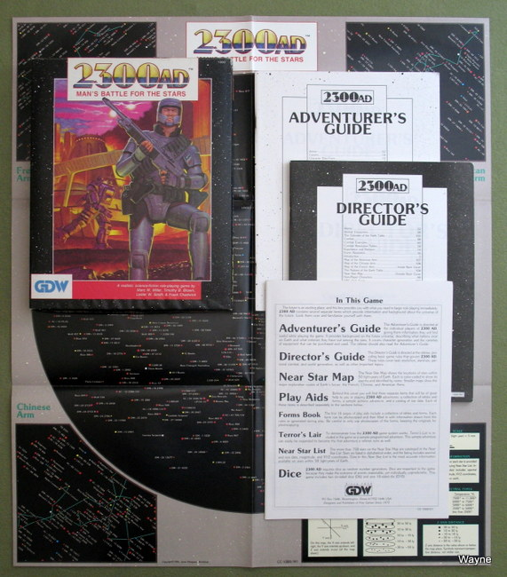 2300 AD Second Edition box components