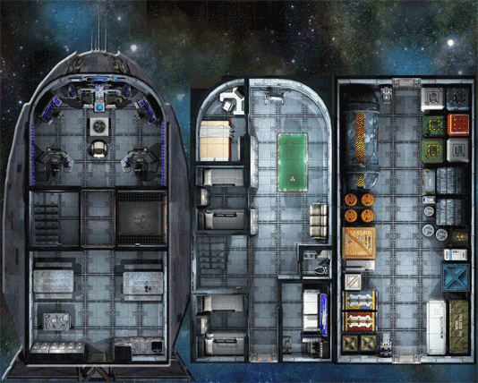 The Last Parsec freighter ship map