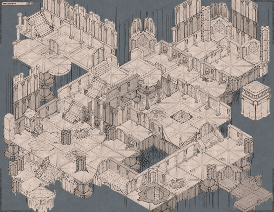 Epic Isometric Halloween Special Edition Restless Crypt map