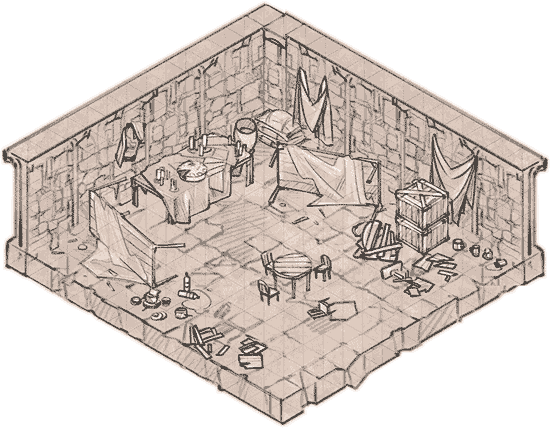 Epic Isometric Prop Pack 1 Trashed Storage Room map