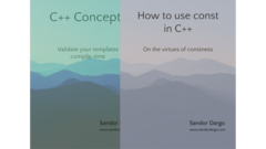 C++ consts and concepts