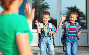 How to separate from your child on the first day of school