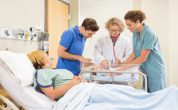 What happens during an emergency C-section?