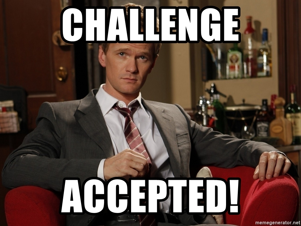 How I met your mother never lies! Take on this challenge by renting a charter bus.