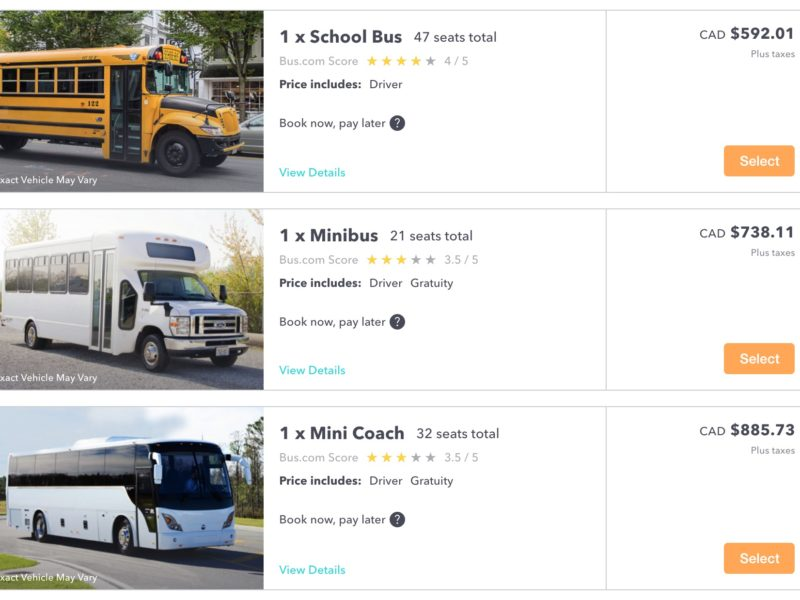 2. Choose the Right Bus Rental for your Trip