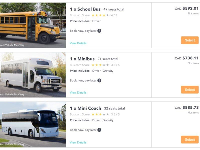 2. Choisissez le bon autobus pour votre voyage