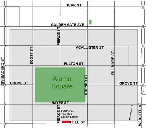 Bus Rental Parking at Alamo Square
