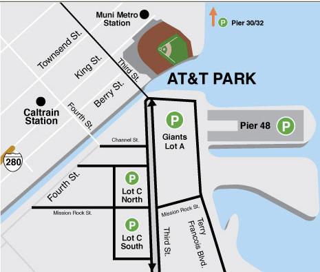 Bus Rental Parking at AT&T Park