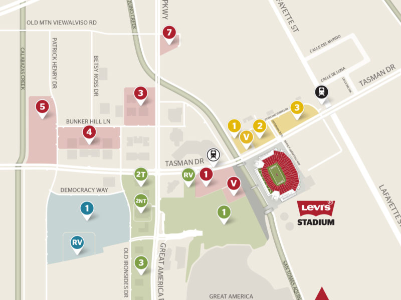 Bus Rental Parking at Levi's Stadium