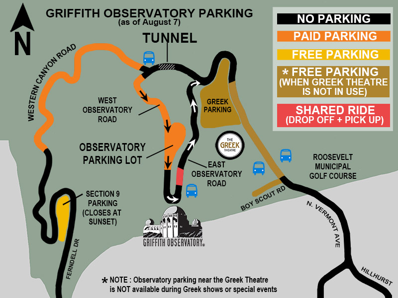 7. Parking your bus at The Griffiths Observatory