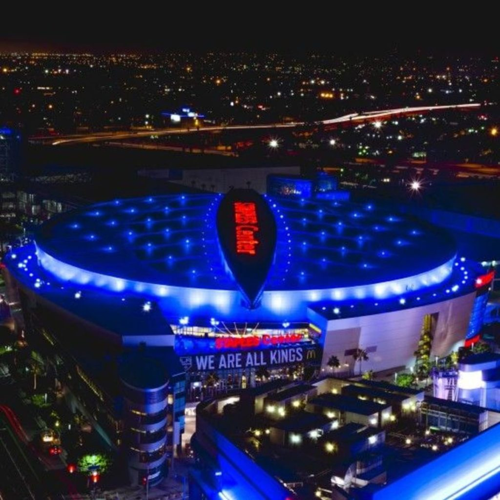 Rent a charter tour bus to the Staples Center in Los Angeles