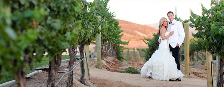 Rent a wedding shuttle bus to get to your remote Los Angeles wedding venue.
