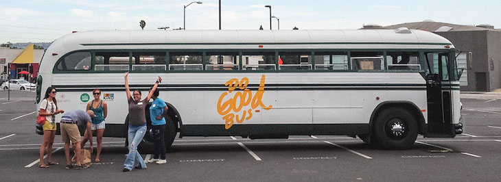The Los Angeles Do Good Bus is an excellent example of a creative use for an old bus.