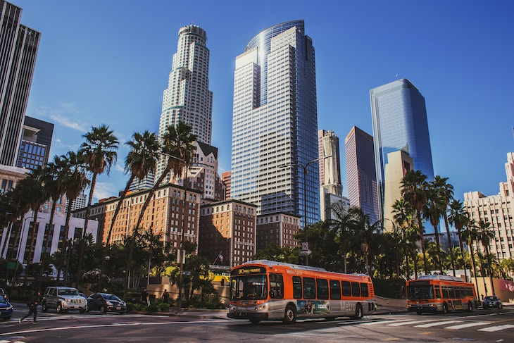 Charter bus rentals for your Los Angeles corporate event.