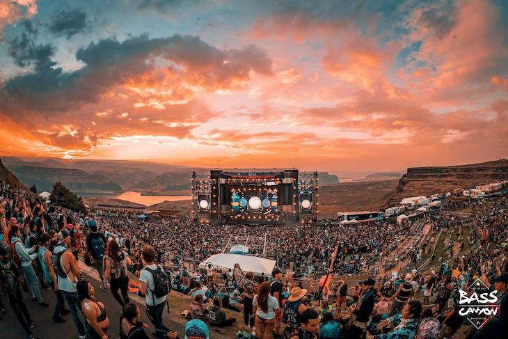 Shuttle buses to Bass Canyon Music Festival.