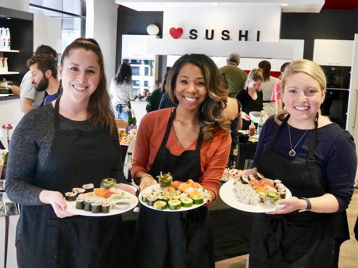 San Francisco charter bus rentals to Breakthrough Sushi.