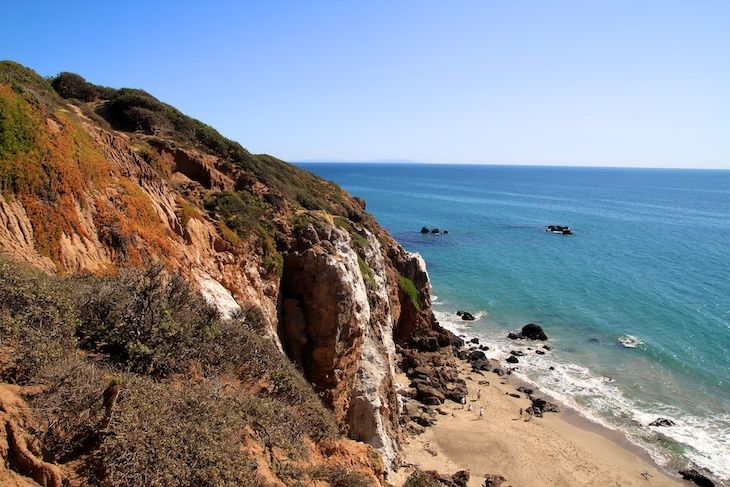 Los Angeles charter bus rentals to Point Dume State Beach.