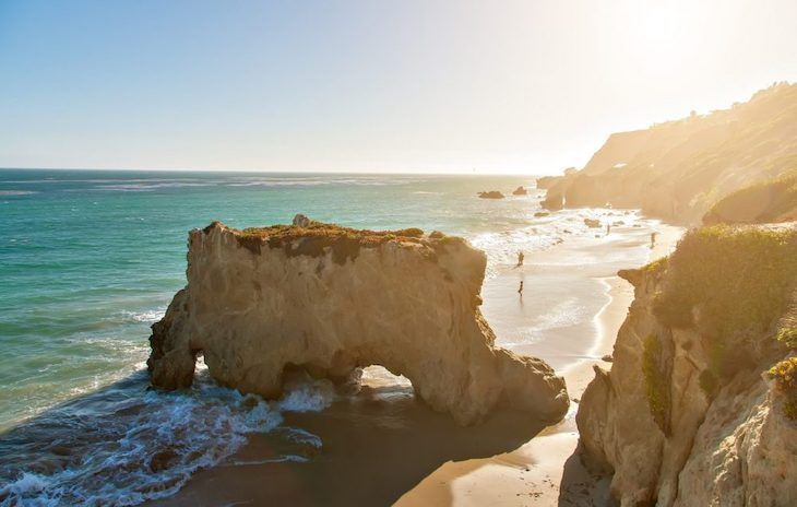 Los Angeles charter bus rentals to El Matador State Beach.