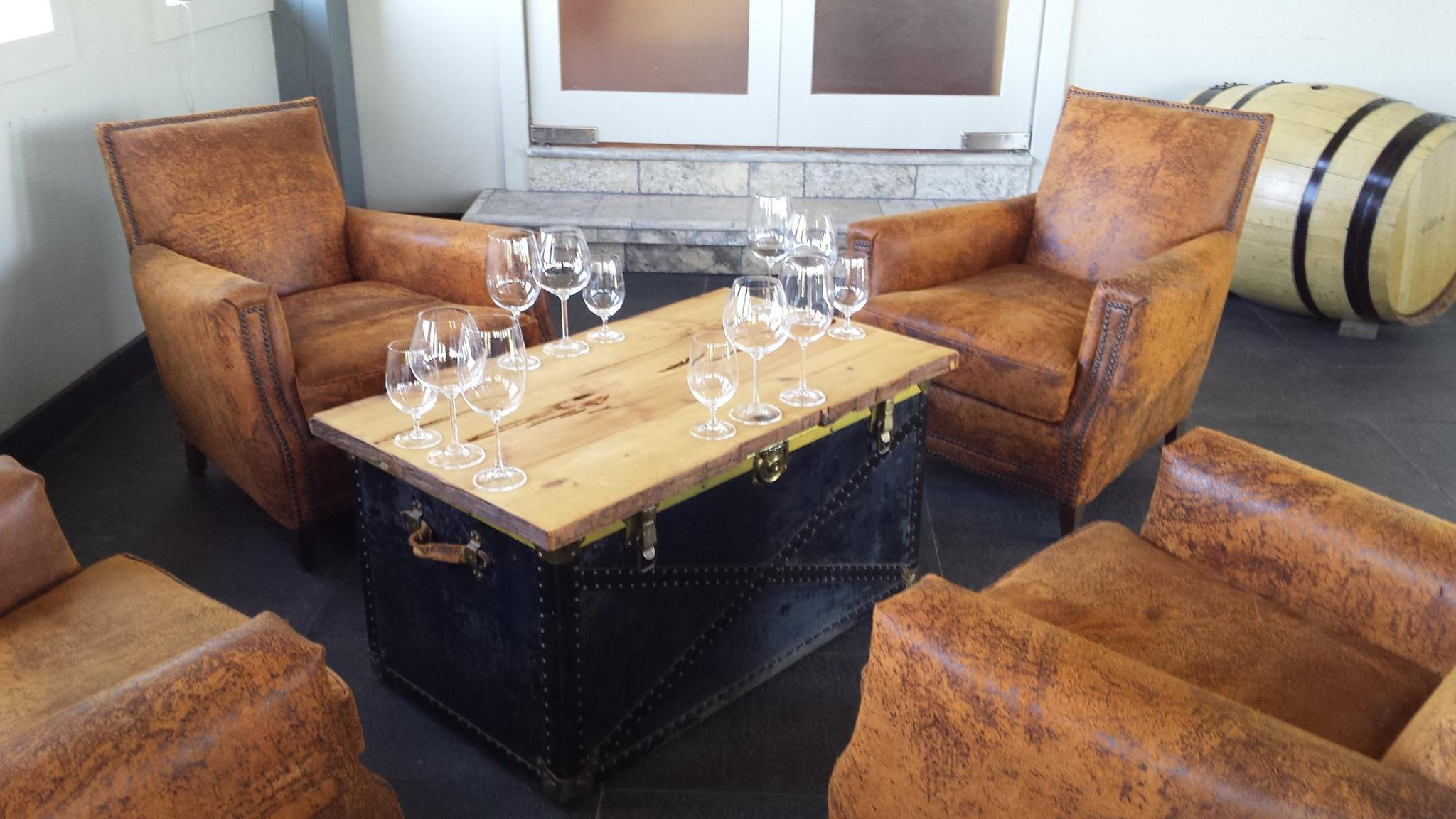 Get to Domaine Quaylus in a charter bus rental, and taste their wine offerings in theyr cozy tasting corner.