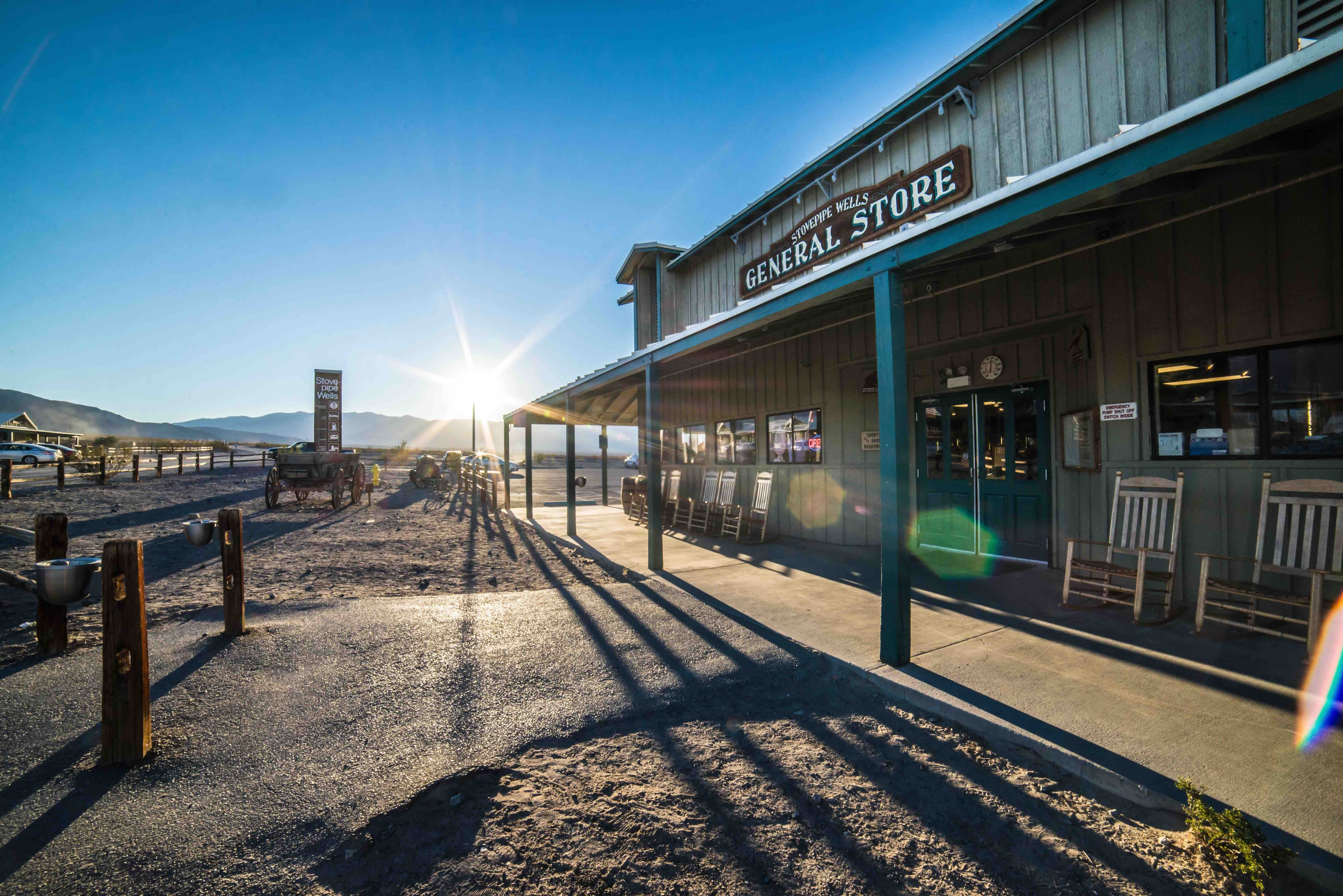Visit the Texas General Store by renting a charter bus.