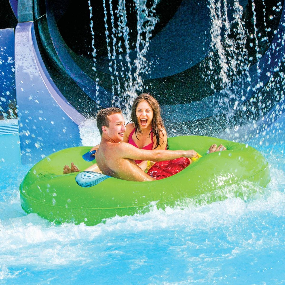 Visit this water park by renting a charter bus.