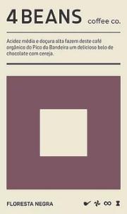Café 4 Beans Floresta Negra - Grãos 250g