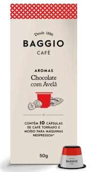 Café Baggio Aromas Chocolate com Avelã - 10 Cápsulas
