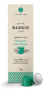 Baggio Aromas Chocolate com Menta - 10 Cápsulas