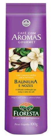 Café Floresta Aromas Baunilha e Nozes - Moído 100g