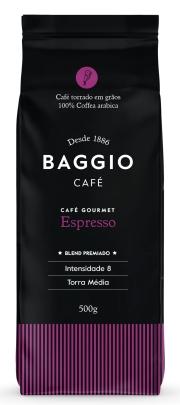 Baggio Café Gourmet Espresso Grãos 500g