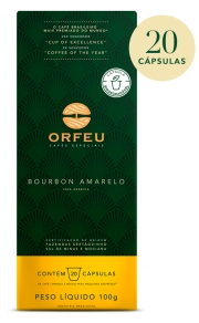 Café Orfeu Bourbon Amarelo 20 Cápsulas